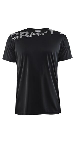 Craft Radiate No.1 Hardloopshirt korte mouwen Heren wit/zwart